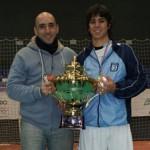 Junto a Diego Simonet después de la transmisión del Panamericano de Chile 2010