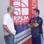 Dady Gallardo de visita en la radio antes del mundial de Croacia